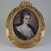 SALE Miniature Portrait On Ivory Of Beautiful Woman