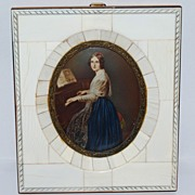 SALE Miniature Portrait Of Jenny Lind
