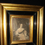 SALE Rare French Miniature Engraving Queen Victoria