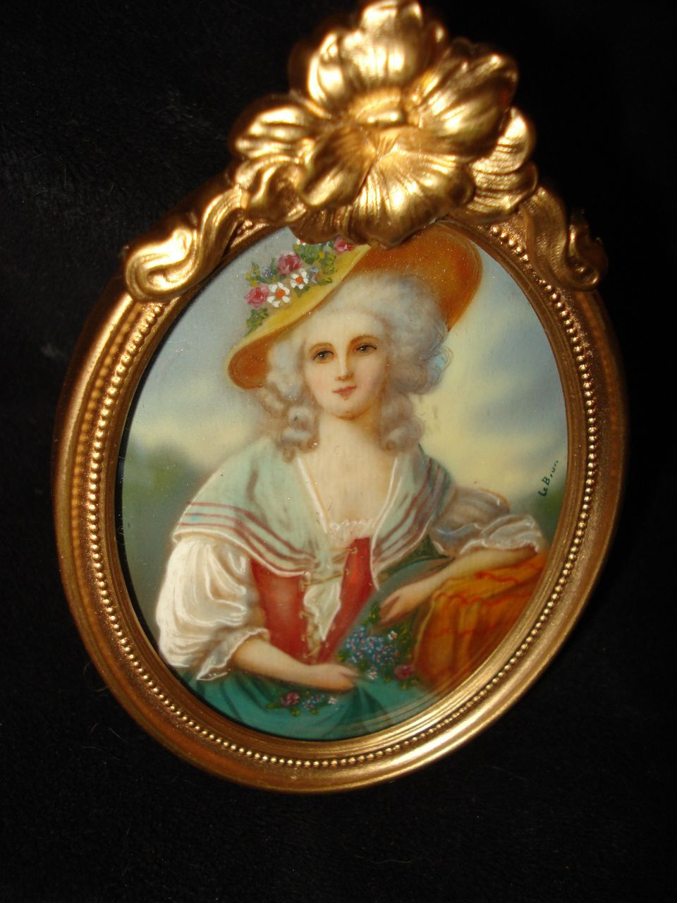 French Miniature Painting Duchess Of Devonshire