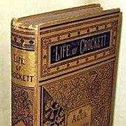 SALE Rare Book 1884 Life Of David Crockett