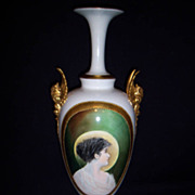 SALE Large Rare  Belleek Portrait Vase
