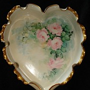 SALE Rare Willets Belleek Heart Dish