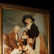 SALE French Miniature Rare Painting Of Marie Antoinette and Family