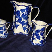 SALE Vintage 3 Piece Milk Jug and Cream and Sugar signed Cash Family