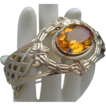 Stunning French Renaissance Style Amber Glass Bracelet