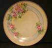 Handpainted Bavarian Plate Roses Hand signed by artist