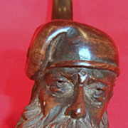 Beautifully Carved Pipe of Man's Head