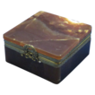 19c French Brown Onyx & Ormolu Table Box