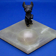Hagenauer Vienna Bronze Terrier and Green Onyx Vide Poche