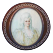 RARE Antique Blond Tortoiseshell, Gold, & Ivory Portrait Miniature Snuff Box, French ca. 1860