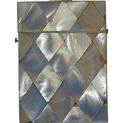 Antique Mother of Pearl Calling Card Case, 19th c.
