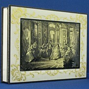 Austrian Sterling Silver & Enamel Table Box, LARGE