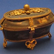 c1800 Palais Royal Tortoiseshell & Ormolu Bronze Dore Sewing Etui Box