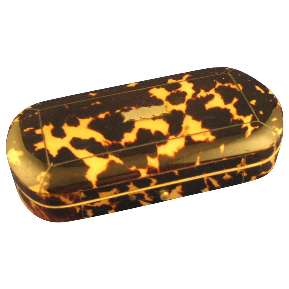 GORGEOUS Spotted Tortoiseshell, Ivory, Satin Box, Sewing Etui Casket