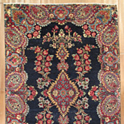 "SOLD Antique Persian Kerman Hand Knotted Rug 4' 10"" x 3' 1"""