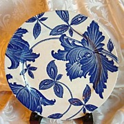 Homer Laughlin Blue and White Plate