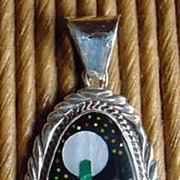 SALE Pendant on Sterling Silver with Exciting Arizona Desert Scene