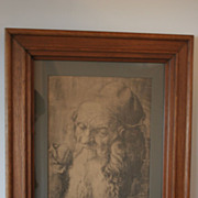 REDUCED Antique Print by Albrecht Durer, &quot;The Old Man&quot;