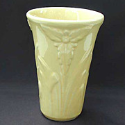 Shawnee Art Pottery Floral Vase Yellow Vintage