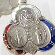 Mid Century Catholic Silver Soldiers Medal