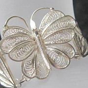 Sterling Cannetille Butterfly Bracelet Just Stunning