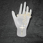 Vintage Sterling Rosary Wedding Catholic Rosary Beads