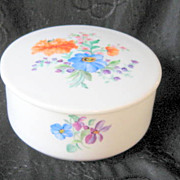 Vintage Dresden Flowers Box Hand Painted Hutschenreuther German