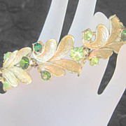 Vintage Coro Jeweled Bracelet Rhinestones