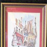 Philip Bawcombe Lithograph 'Rue Chanimesse' Listed Artist