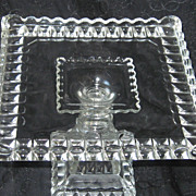 SOLD Adams Glass EAPG  Cake Stand Crystal Wedding Pattern Ca. 1890