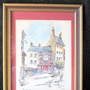Philip Bawcombe Lithograph 'The Turks Head' Listed Artist