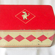 Vintage French Biscuit Tin Ca. 1930s
