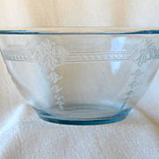 SOLD Fire King Blue Sapphire Philbe Pattern Bowl