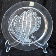 Lalique Crystal Plate Shell Design 1972 Marie Lalique Limited Edition
