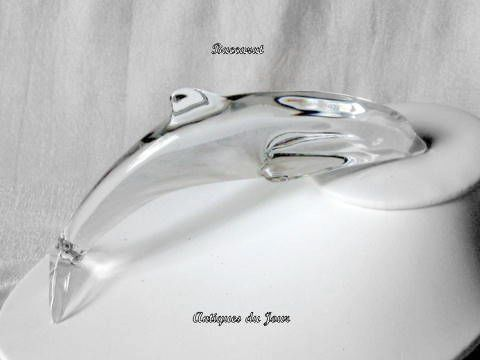 Baccarat French Crystal Dolphin So Elegant