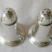 Concord Sterling Silver  Art Deco Era Salt and Pepper Set