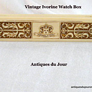 Art Deco Era Ivorine Presentation Watch Box