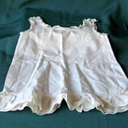 Antique Linen Baby or Doll Slip With Lace Hand Made