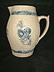 Blue and White Edelweiss Pitcher
