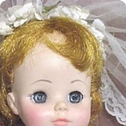 Bride Doll C1963 Madame Alexander Original Mary Ann Character & Clothes Plastic All original N