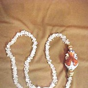SALE Chinese: Quartz :Gourd Urn: Pendant :Quartz Beads: Retro: Necklace