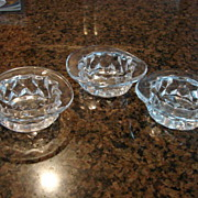 Fostoria Glass American Top Hat Set of 3 Free Shipping