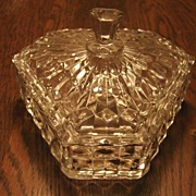 Fostoria Glass American Scarce 6� Tri Corn Candy Dish Free Ship