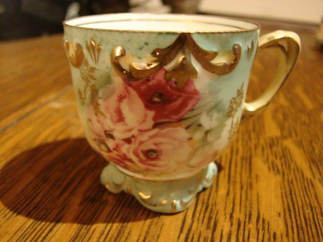 RS Prussia Porcelain Demitasse Demi Cup Footed  Exquisite Free Shipping