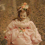 Heirloom Doll House Gowned Lady Bisque Doll 6�