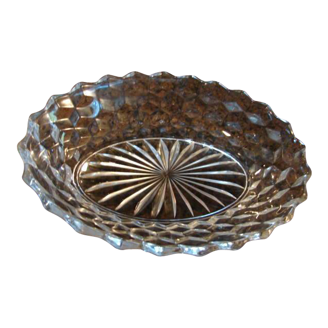 "Fostoria Glass American 9 ¼"" Oval Vegetable Bowl Free Shipping"