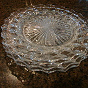 2 Fostoria Glass American 9  Dinner Plates Free Shipping