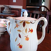 Hall�s China Jewel Tea Autumn Leaf Pattern Rayed Coffee Pot w Lid Free Shipping