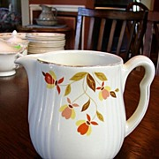 Hall�s China Jewel Tea Autumn Leaf Rayed Milk Cream Pitcher Jug Free Shipping